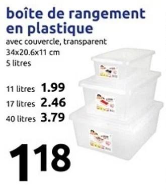 Produit Maison Action Boite De Rangement En Plastique En Promotion Chez Action