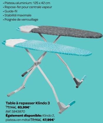 table a repasser klindo 3