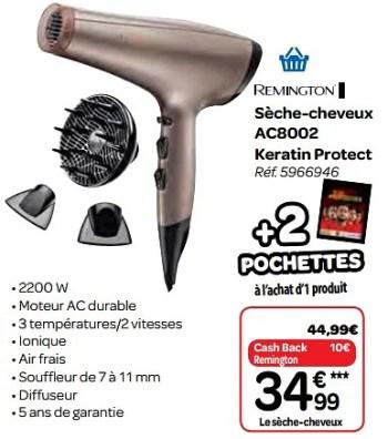 Promotion Carrefour Remington Seche Cheveux Ac8002 Keratin Protect Remington Appareils Electriques Valide Jusqua 4 Promobutler