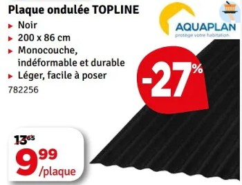 Promotion Mr Bricolage Plaque Ondulee Topline Aquaplan Construction Renovation Valide Jusqua 4 Promobutler