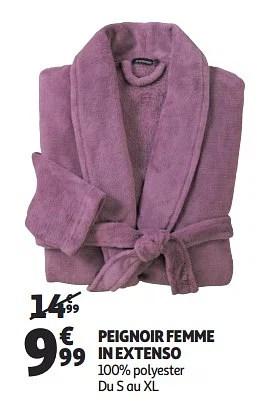 Promotion Auchan Ronq Peignoir Femme In Extenso Inextenso Vetements Chaussures Valide Jusqua 4 Promobutler