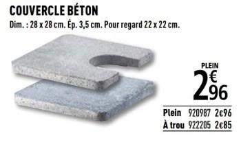 Produit Maison Brico Depot Couvercle Beton En Promotion Chez Brico Depot