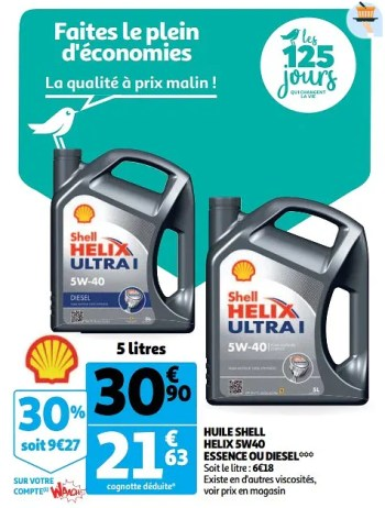 Shell Huile Shell Helix 5w40 Essence Ou Diesel En Promotion Chez Auchan Ronq