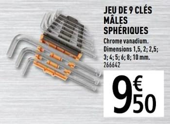 Promotion Brico Depot Jeu De 9 Cles Males Spheriques Magnusson Bricolage Valide Jusqua 4 Promobutler