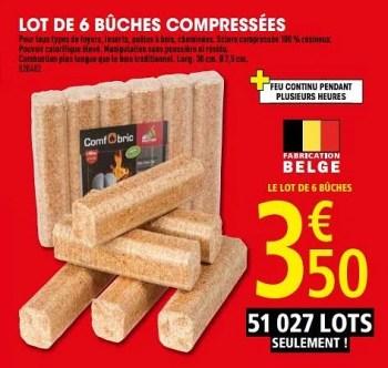 Produit Maison Brico Depot Lot De 6 Buches Compressees En Promotion Chez Brico Depot