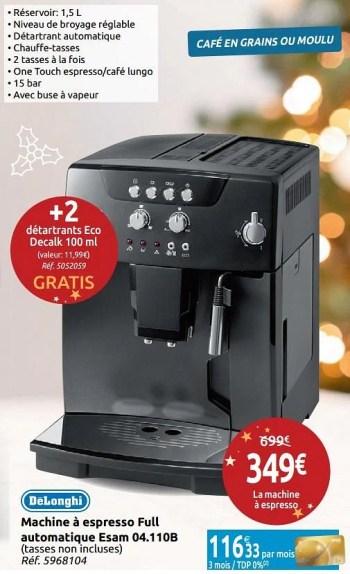 delonghi machine a espresso full automatique esam 04 110b