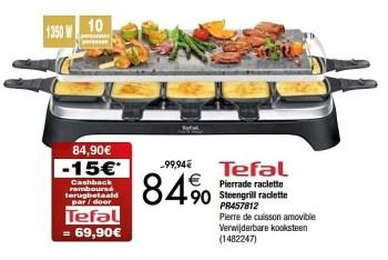 tefal pierrade raclette steengrill raclette pr457812