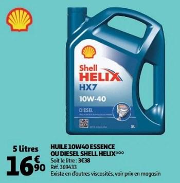 Shell Huile 10w40 Essence Ou Diesel Shell Helix En Promotion Chez Auchan Ronq