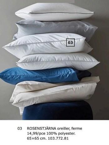 Produit Maison Ikea Rosenstjarna Oreiller Ferme En Promotion Chez Ikea