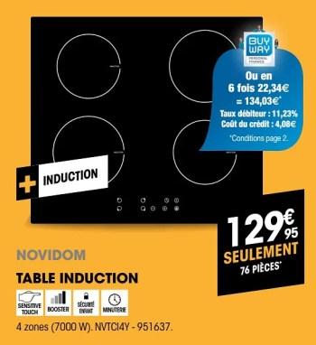 Novidom Novidom Table Induction Nvtci4y En Promotion Chez Electro Depot