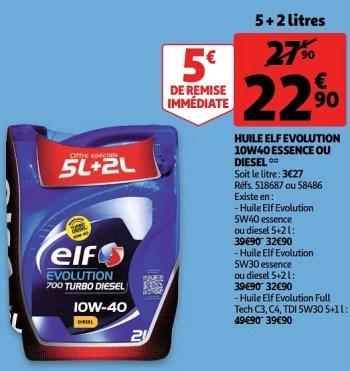 Elf Huile Elf Evolution 10w40 Essence Ou Diesel En Promotion Chez Auchan Ronq