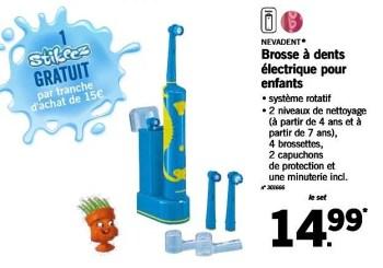 Promotion Lidl Brosse A Dents Electrique Pour Enfants Nevadent Appareils Electriques Valide Jusqua 4 Promobutler