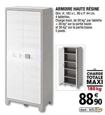 armoire haute resine