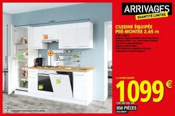 Produit Maison Brico Depot Cuisine Equipee Pre Montee En Promotion Chez Brico Depot