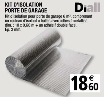 Diall Kit D Isolation Porte De Garage En Promotion Chez Brico Depot