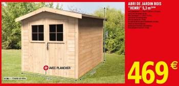 Produit Maison Brico Depot Abri De Jardin Bois Henri 5 3 M En Promotion Chez Brico Depot