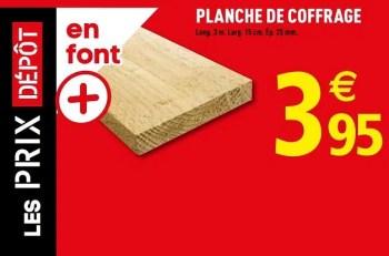 Produit Maison Brico Depot Planche De Coffrage En Promotion Chez Brico Depot
