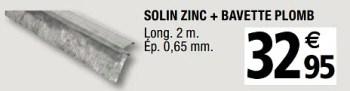 Produit Maison Brico Depot Solin Zinc Bavette Plomb En Promotion Chez Brico Depot