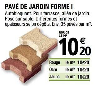 Produit Maison Brico Depot Pave De Jardin Forme I En Promotion Chez Brico Depot