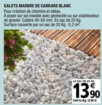 Promotion Brico Depot Galets Marbre De Carrare Blanc Produit Maison Brico Depot Jardin Et Fleurs Valide Jusqua 4 Promobutler