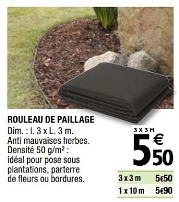 Promotion Brico Depot Rouleau De Paillage Verve Jardin Et Fleurs Valide Jusqua 4 Promobutler