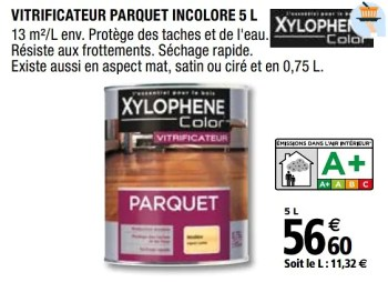 Xylophene Vitrificateur Parquet Incolore En Promotion Chez Brico Depot