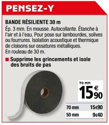 Produit Maison Brico Depot Bande Resiliente En Promotion Chez Brico Depot