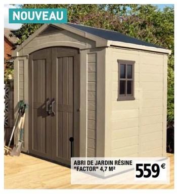 Produit Maison Brico Depot Abri De Jardin Resine Factor En Promotion Chez Brico Depot