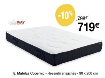 Swiss Way Matelas Copernic Ressorts Ensaches En Promotion Chez Le Roi Du Matelas