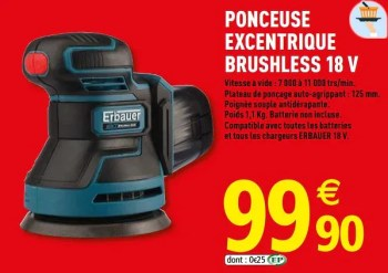 Promotion Brico Depot Erbauer Ponceuse Excentrique Brushless 18 V Erbauer Bricolage Valide Jusqua 4 Promobutler