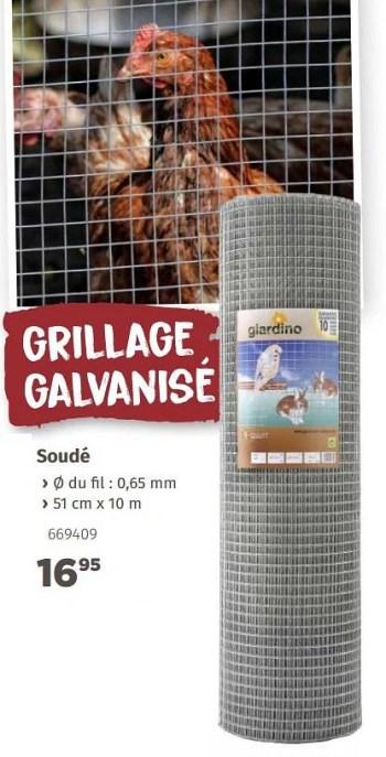 Promotion Mr Bricolage Grillage Galvanise Soude Giardino Jardin Et Fleurs Valide Jusqua 4 Promobutler