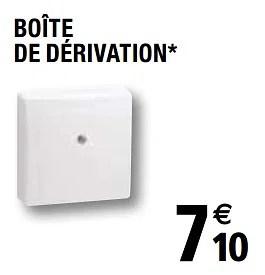 Legrand Boite De Derivation En Promotion Chez Brico Depot