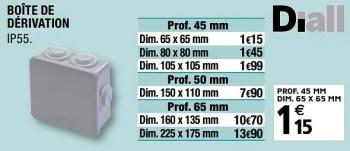 Diall Boite De Derivation En Promotion Chez Brico Depot