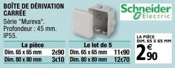 Schneider Electric Boite De Derivation Carree En Promotion Chez Brico Depot