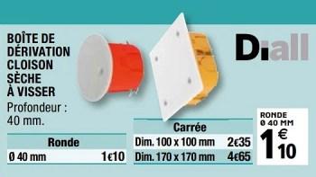 Diall Boite De Derivation Cloison Seche A Visser En Promotion Chez Brico Depot