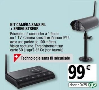 Promotion Brico Depot Chacon Kit Camera Sans Fil Enregistreur Chacon Construction Renovation Valide Jusqua 4 Promobutler
