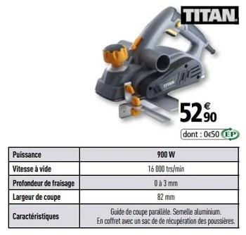 Promotion Brico Depot Titan Rabots Electriques Titan Bricolage Valide Jusqua 4 Promobutler