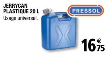 Produit Maison Brico Depot Jerrycan Plastique 20 L En Promotion Chez Brico Depot