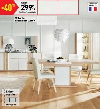 table extensible aston