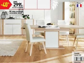 https www promobutler be fr conforama promotions promotion huismerk conforama chez conforama table rectangle extensible aston table de salle a manger salle a manger id 5847644