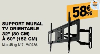 support mural tv orientable 32