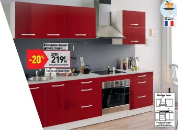 cuisine spoon glossy rouge