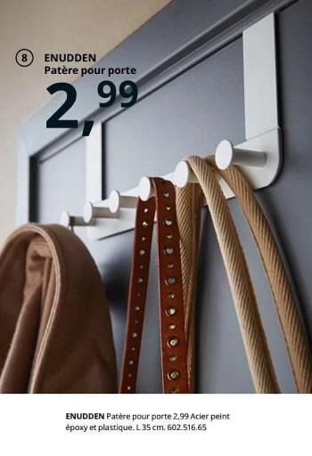 Promotion Ikea Enudden Patere Pour Porte Produit Maison Ikea Meubles Valide Jusqua 4 Promobutler
