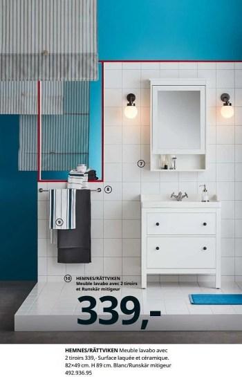 Promotion Ikea Hemnes Rattviken Meuble Lavabo Avec 2 Tiroirs Produit Maison Ikea Cuisine Salle De Bain Valide Jusqua 4 Promobutler