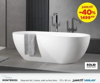 baignoires en solid surface monterosi baignoire ilot 2 places solid surface blanc