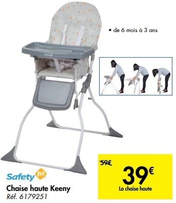 chaise haute keeny