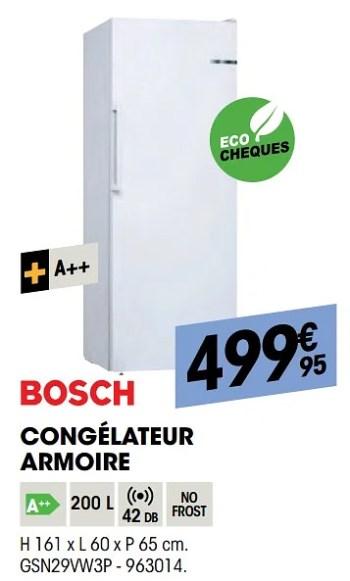 Bosch Bosch Congelateur Armoire Gsn29vw3p En Promotion Chez Electro Depot