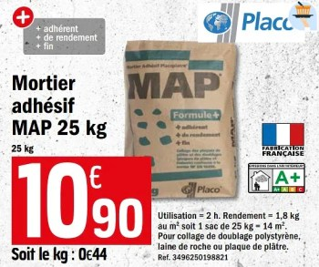 Promotion Brico Depot Mortier Adhesif Map 25 Kg Placo Construction Renovation Valide Jusqua 4 Promobutler
