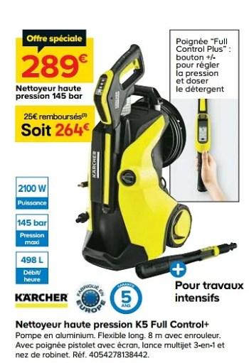 Karcher Karcher Nettoyeur Haute Pression K5 Full Control En Promotion Chez Castorama