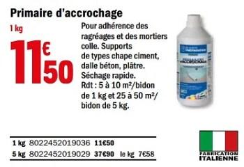 Mapei Primaire D Accrochage En Promotion Chez Brico Depot